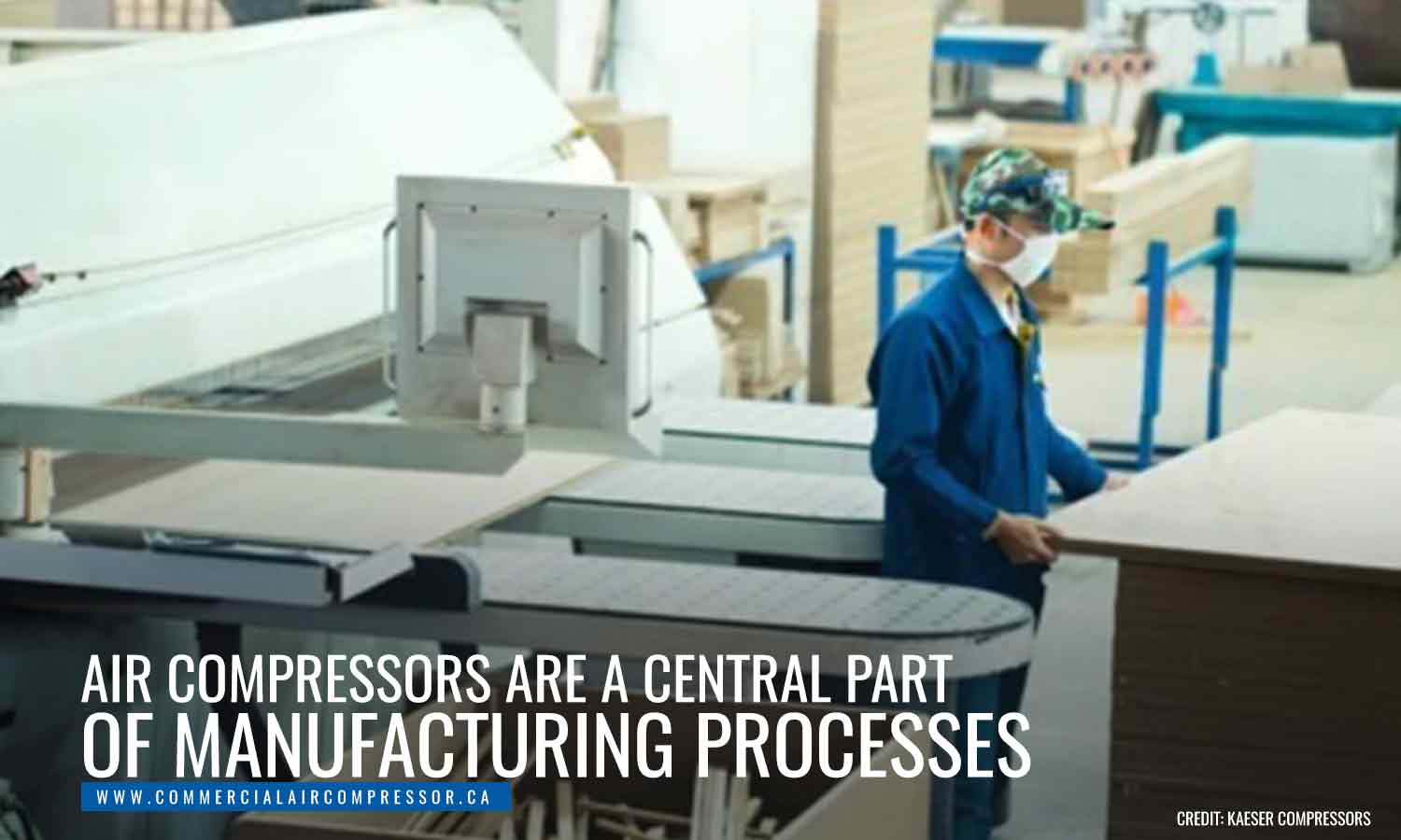 Air compressors are a central part of manufacturing processes