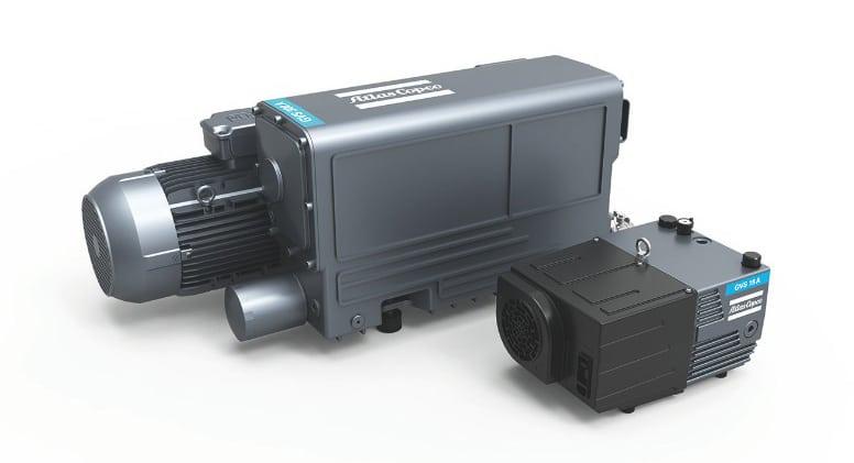 Single stage oil-sealed rotary vane pumps