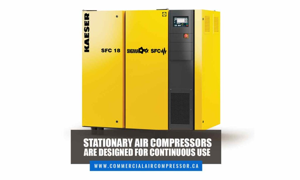 Stationary air compressors are designed for continuous use