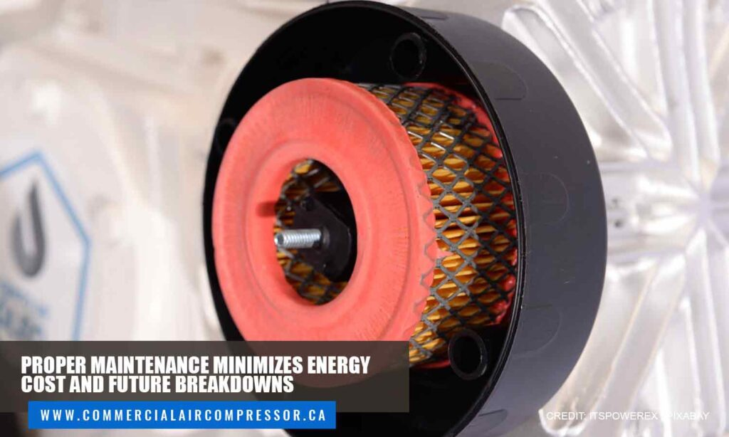 Proper maintenance minimizes energy cost and future breakdowns