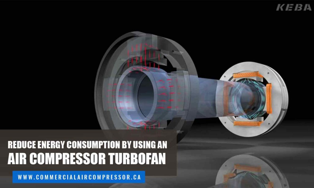Reduce energy consumption by using an air compressor turbofan