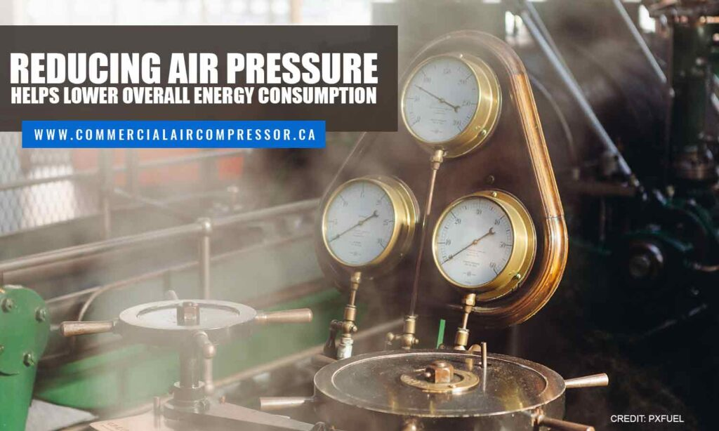 Reducing air pressure helps lower overall energy consumption
