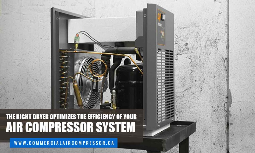 The right dryer optimizes the efficiency of your air compressor system