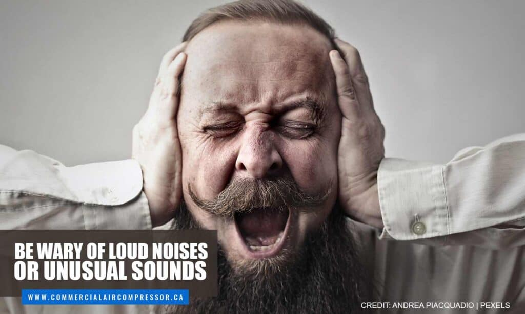 Be wary of loud noises or unusual sounds