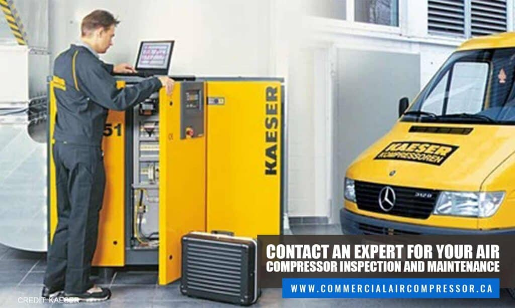 Contact an expert for your air compressor inspection and maintenance