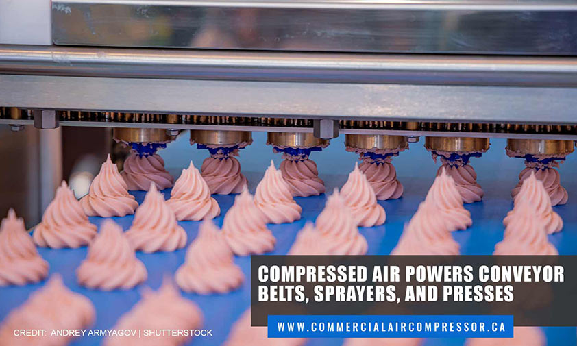 Compressed air powers conveyor