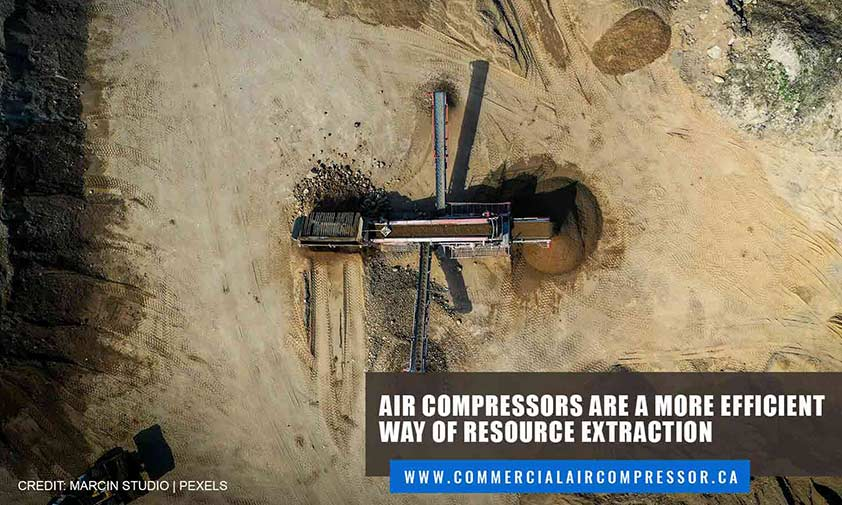 Air compressors are a more efficient way of resource extraction