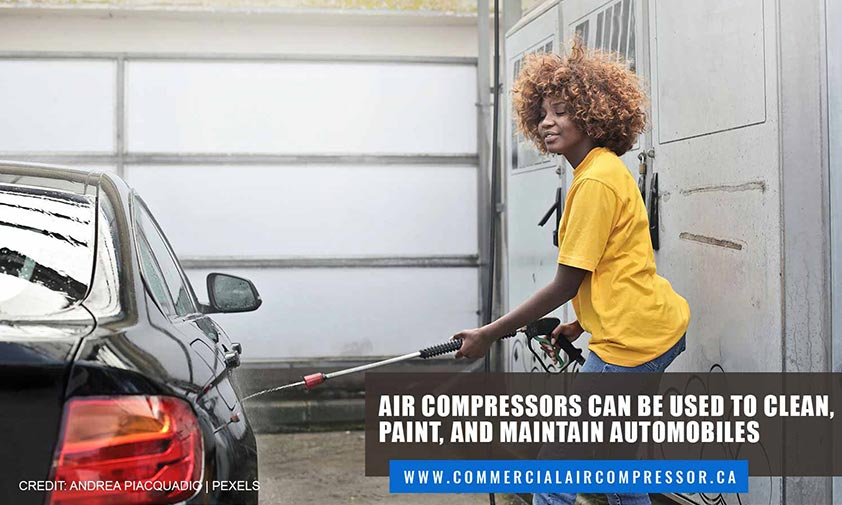 Air compressors can be used to clean, paint, and maintain automobiles