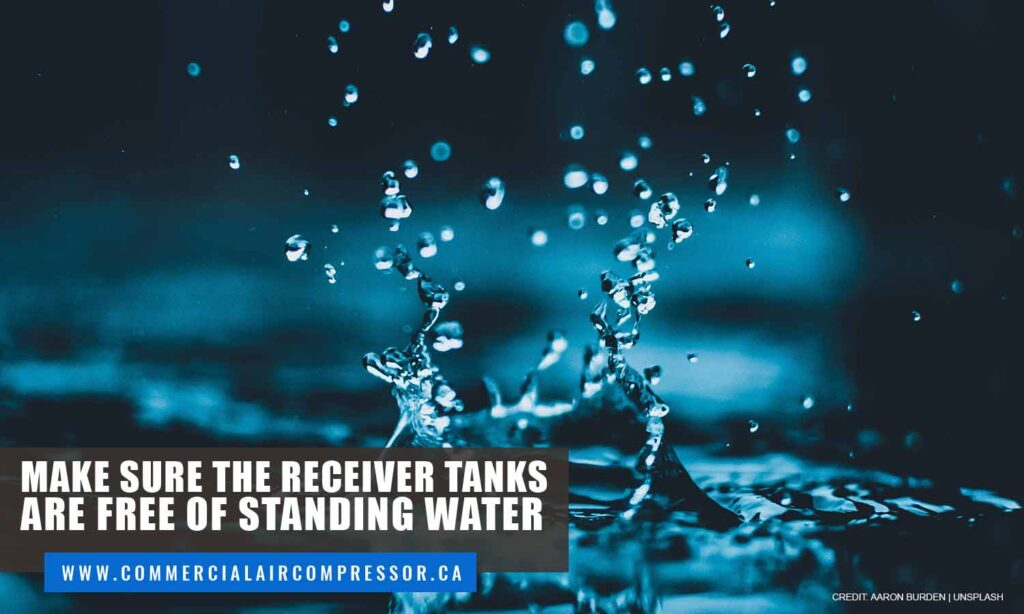 Make sure the receiver tanks are free